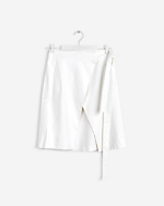 Lan Wrap Skirt White