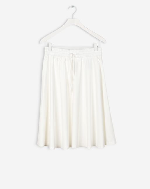 Adie Flowy Skirt Off White