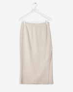 Diagonal Rib Skirt Chalk