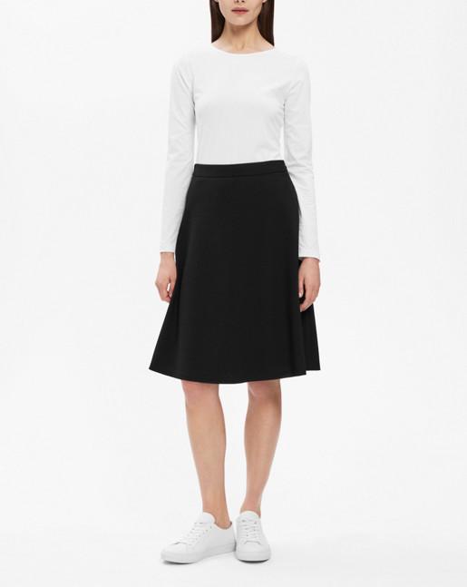 A-line skirt Black