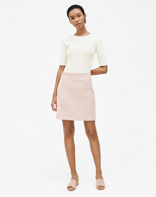 Clean Mini Skirt Tearose