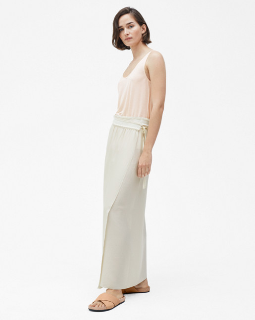 Floaty Maxi Skirt Bone