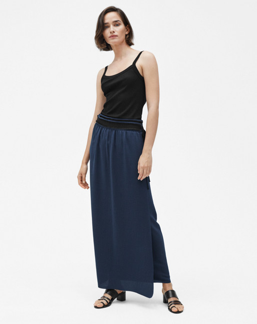 Floaty Maxi Skirt Navy
