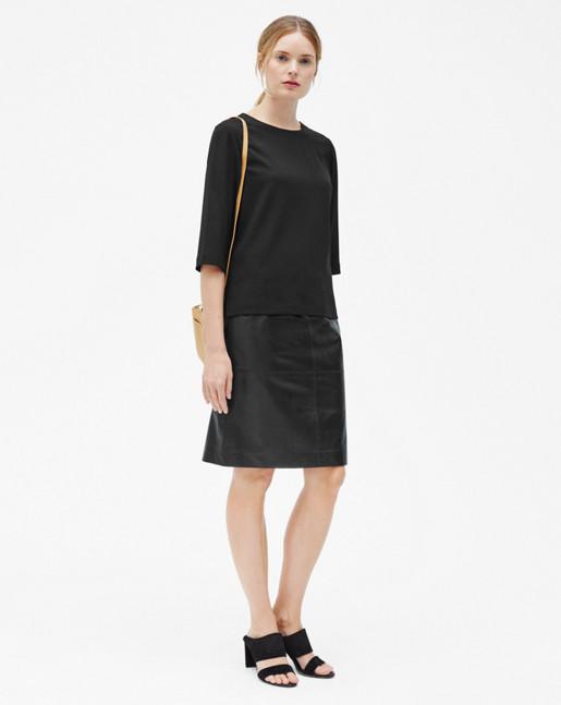 Agnes Leather Skirt