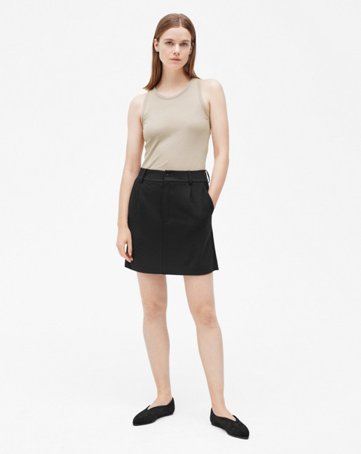 Tailored Jersey Skirt Black