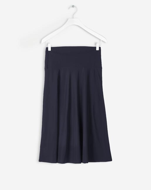 High Waisted Jersey  Skirt Navy