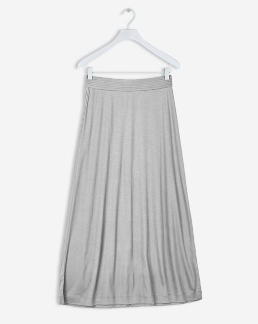 Fit & Flare Jersey Skirt Grey Melange