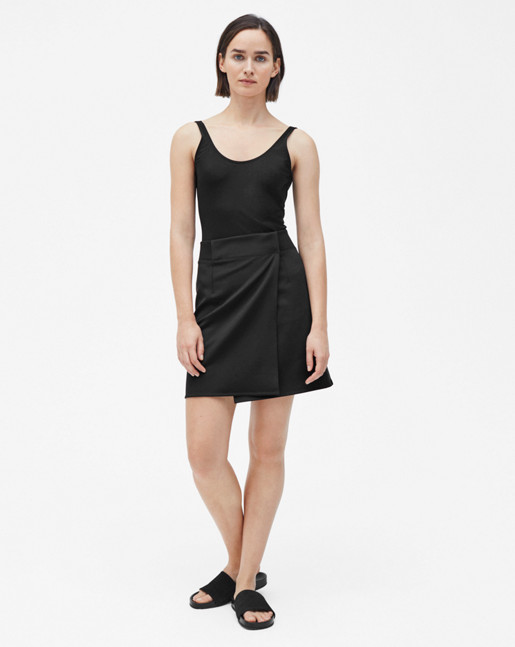 Track Wrap Skirt Black