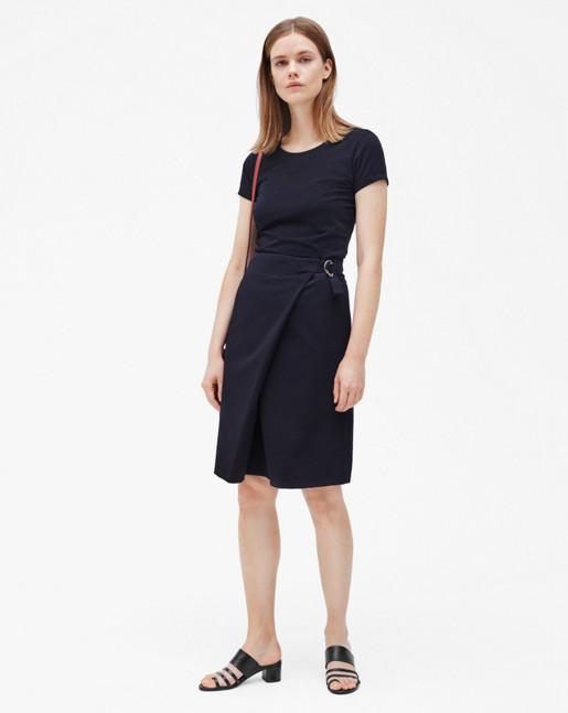 A-Line Wrap Skirt Navy