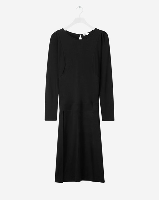 Drapey Tencel Split Dress