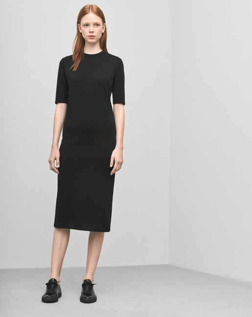 Fitted Mid-sleeve Dress