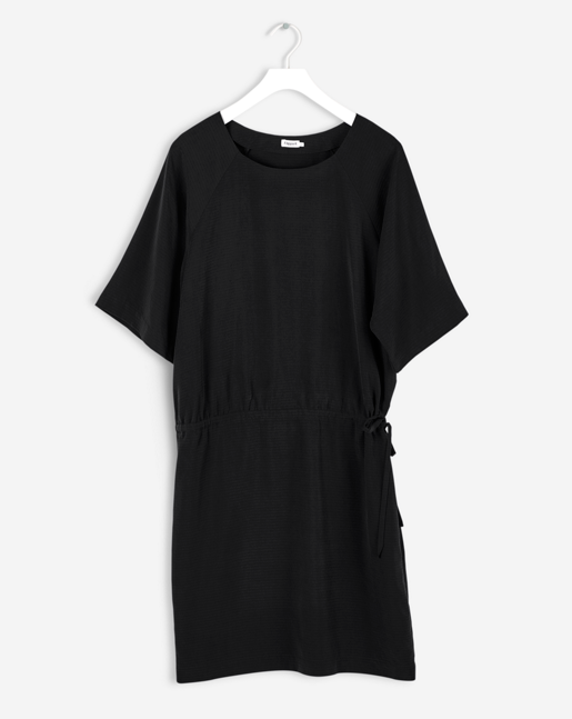 Drawstring Dress Black