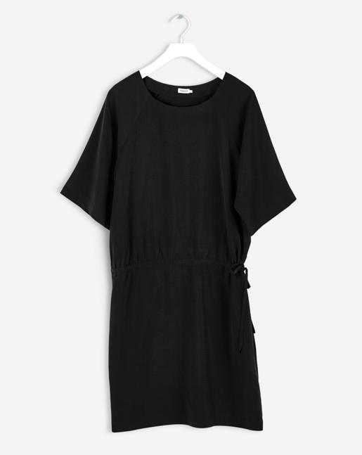Drawstring Dress Black