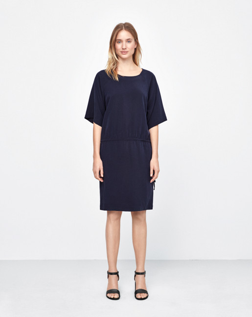 Drawstring Dress Navy