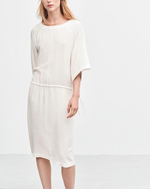 Drawstring Dress Off White