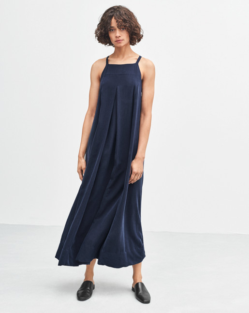 Maxi Trapeze Dress Navy