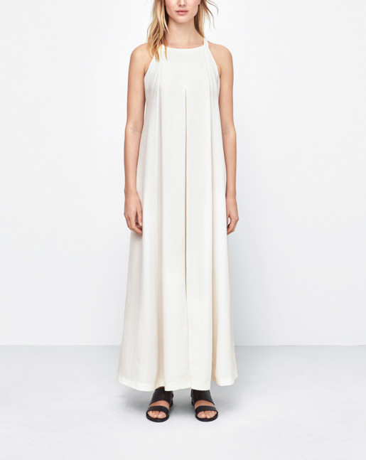 Maxi Trapeze Dress Off white