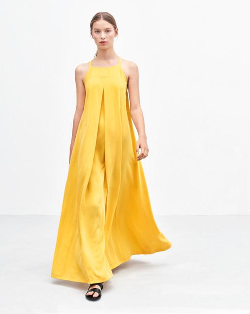 Maxi Trapeze Dress Sunglow