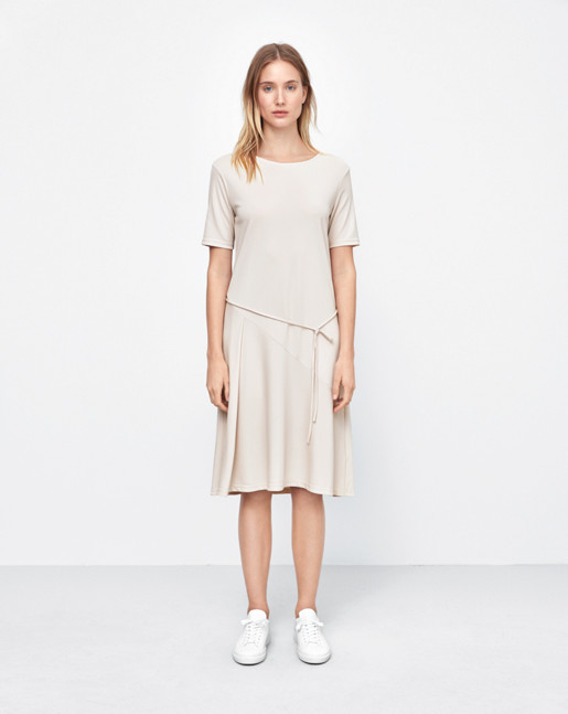Bias Cut Jersey Dress Chiffon