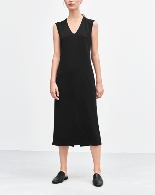 U-neck Dress Black