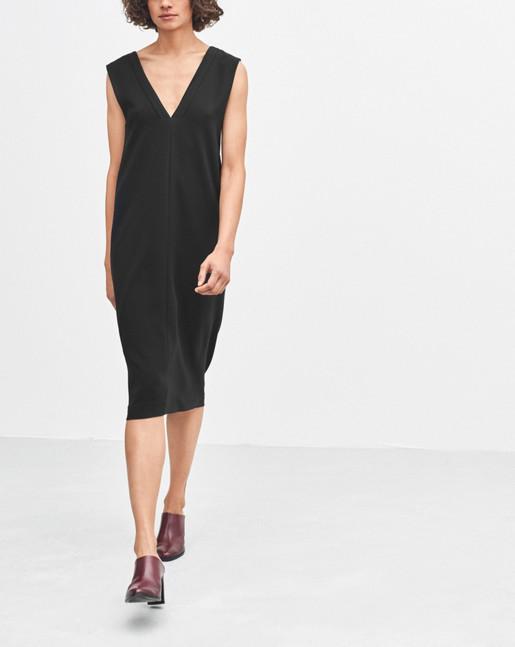 Cutout V-neck Dress Black