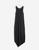 Shiny Rib Tank Dress Black