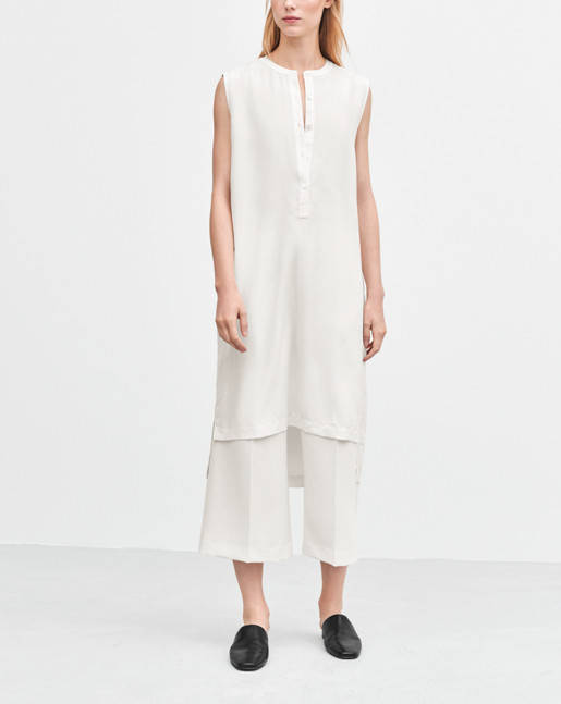 High Low Shirt Dress Offwhite