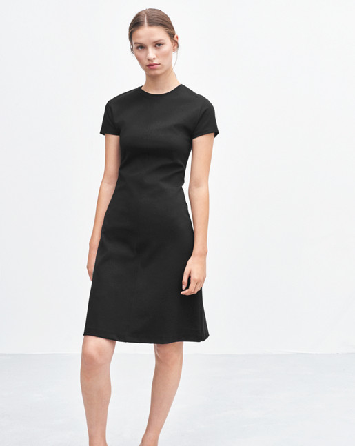 Crew Neck Dress Black