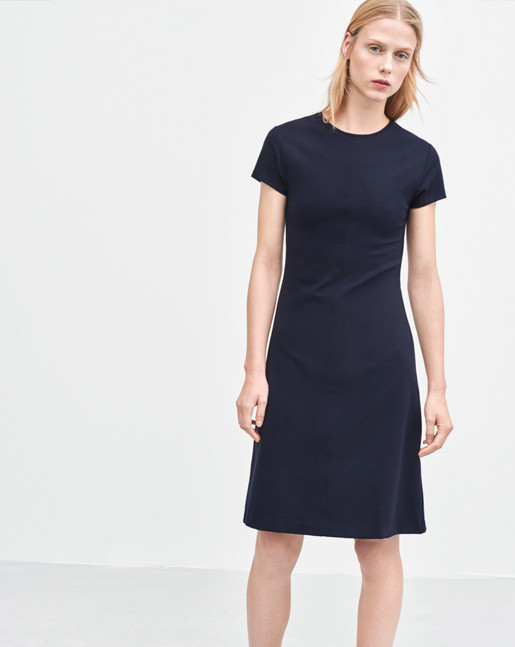 Crew Neck Dress Navy