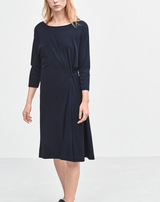 Blouson Jersey Dress Navy