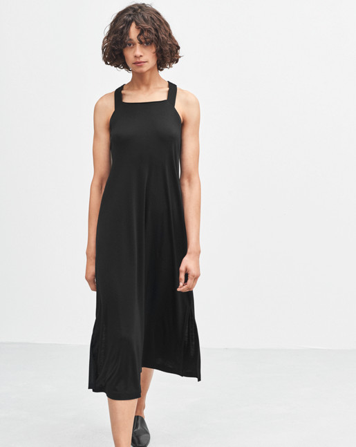 Flowy Jersey Dress Black