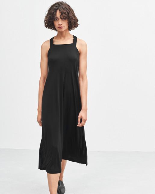 Flowy Jersey Dress Black