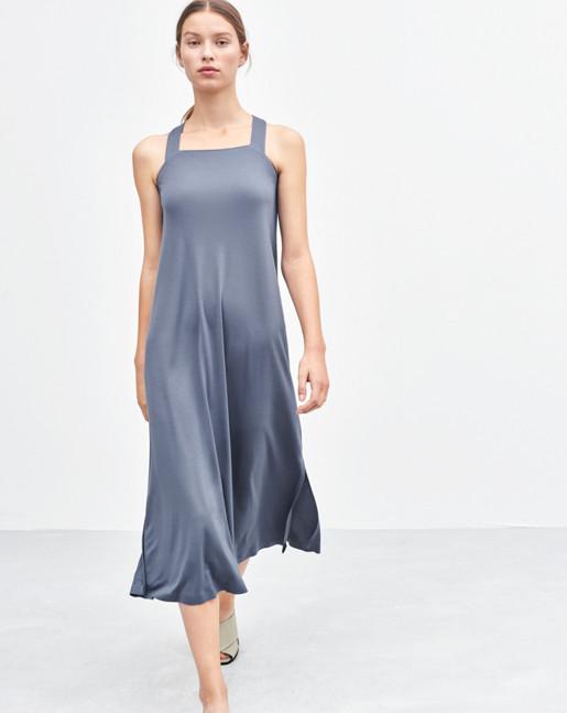Flowy Jersey Dress Shadow