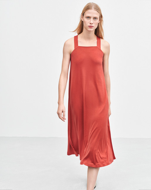 Flowy Jersey Dress Spice