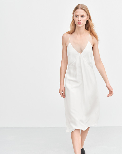 Mae Slip Dress Off White