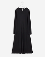 Raglan Sleeve Jersey Dress Black