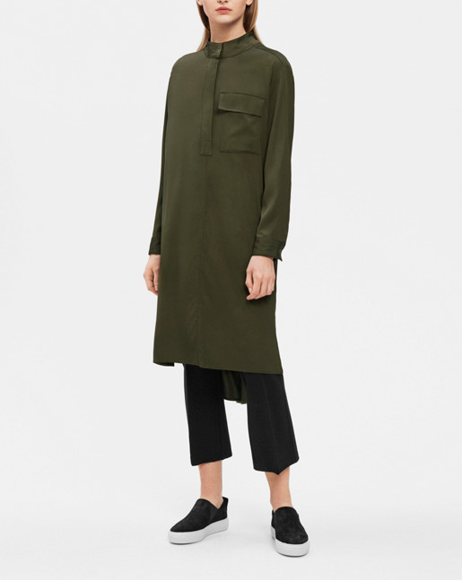 Paige Shirt Dress Dark Olive
