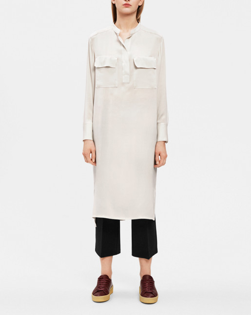 Ada Long Shirt Dress Chalk