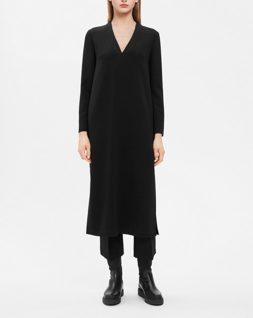 Anik V-Neck Dress Black