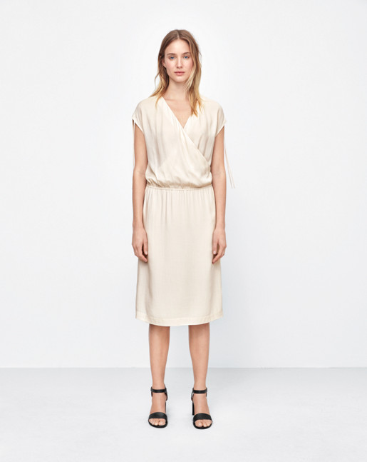Drawstring Wrap Dress Chiffon