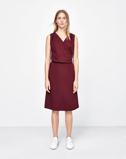Drawstring Wrap Dress