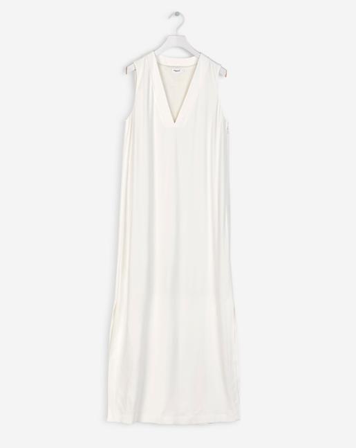 Deep V-Dress Off White