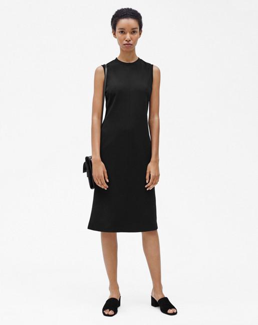Sleeveless Shift Dress Black