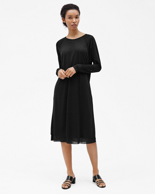 Double Layer Dress Black