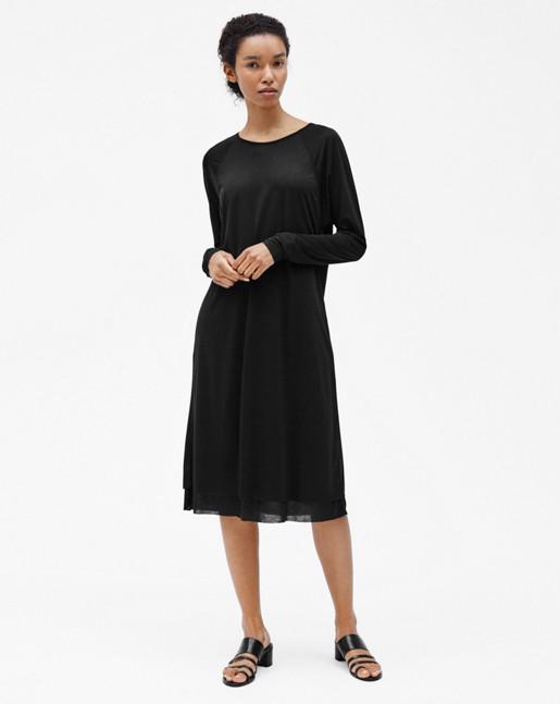 Double Layer Dress Black