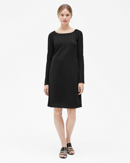 Open Neck Dress Black
