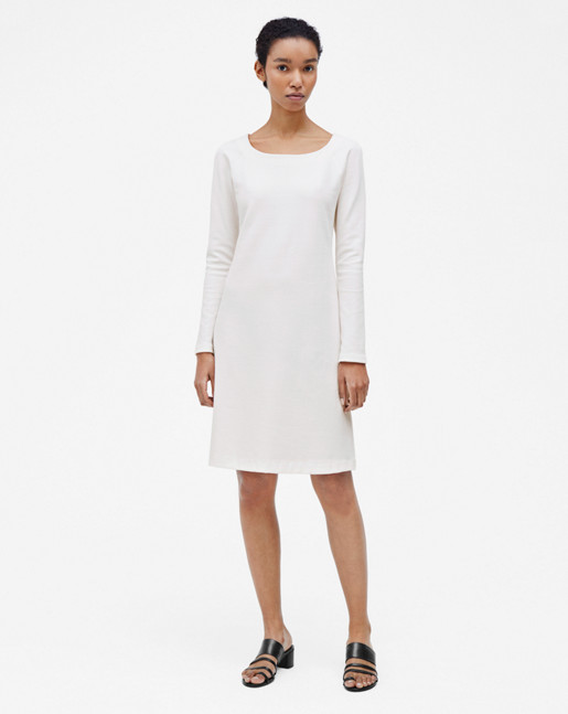 Open Neck Dress Off White
