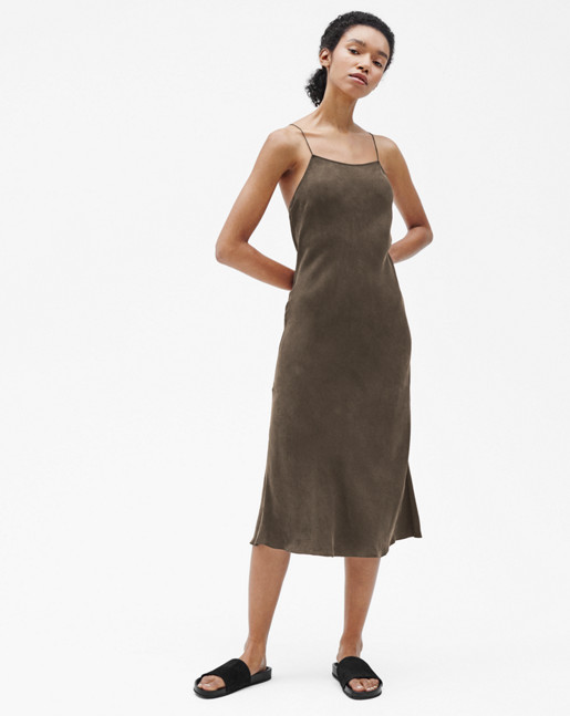 Alicia Strap Dress Khaki