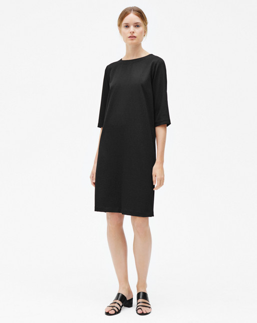 Textured Tee Dress Black