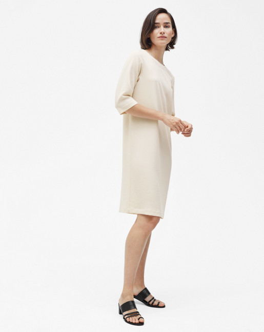Textured Tee Dress Bone